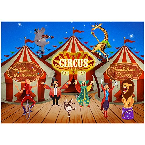 Musykrafties Large Carnival Circus Banner Backdrop Scene Setters Photography Background 5x7ft