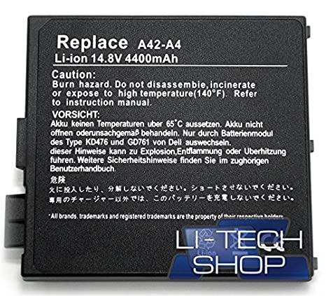 Batería compatible para Asus A4550 14.4 V 14.8 V Negro Notebook Ordenador Portátil: Amazon.es: Electrónica