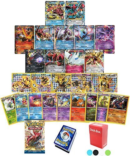 Pokemon TCG Guaranteed EX, Mega or BREAK - BreakPOINT Booster Pack - 30 Card Elite Trainer Kit Lot Free Deck Box - Holo Foil Rare Common Uncommon Random Bonus - Break Common Card