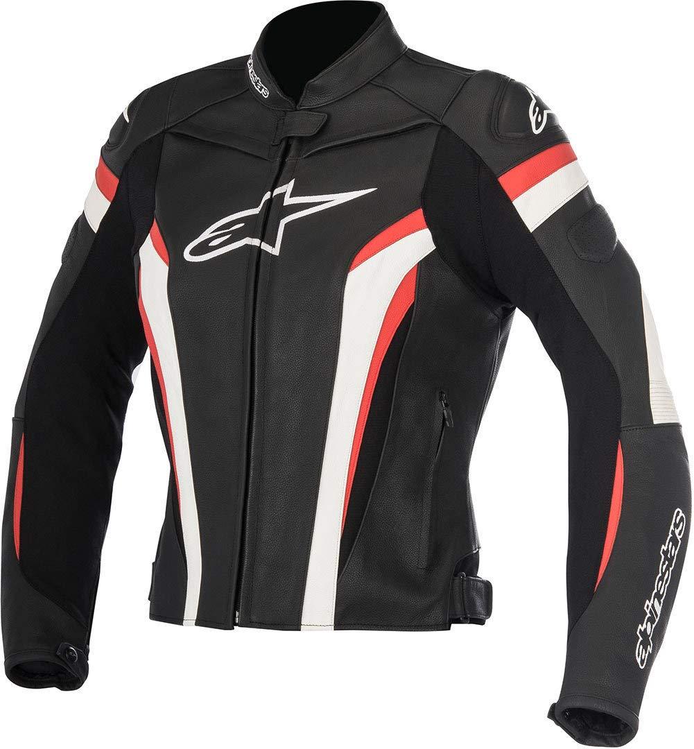 color negro Chaqueta de piel para moto blanco y rojo Alpinestars Stella Gp Plus R V2 talla 48