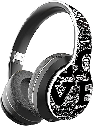 Bluetooth 5.0 Headphones, VAXIUJA Wireless Headphones Over Ear Wwith Hi-Fi Sound Mic Deep Bass, 12 Hours Playtime and Soft PU Earpads Foldable Lightweight, Support Tf Card MP3 Mode and Fm Radiofor