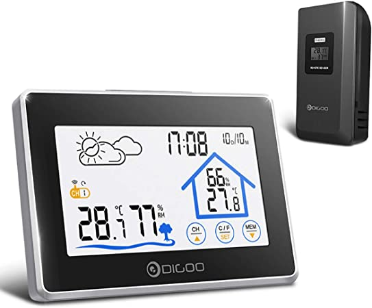 New Wireless Outdoor Weather Station Digital Indoor Home Thermometer Temperature
