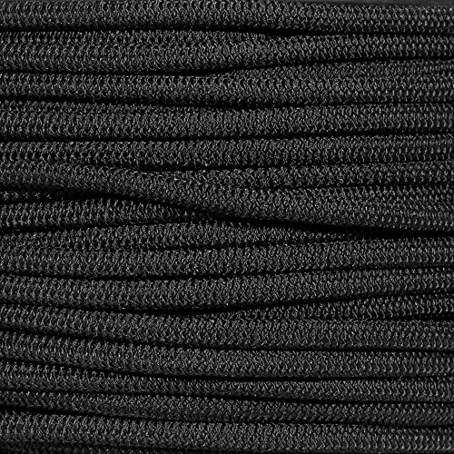 (PARACORD PLANET Black Diamond Weave Shock Cord - Available in 1/8