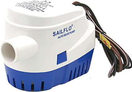1100GPH Boat 12V Marine Automatic Submersible Bilge Auto Water Pump Float Switch