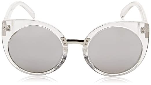 b7d78d5887b Amazon.com  QUAY AUSTRALIA Men s China Doll Clear Silver Mirror Sunglasses   Quay  Clothing