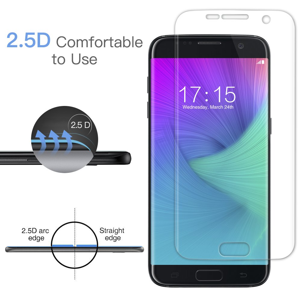 [2 Pezzi] Senistech Samsung Galaxy S7 Edge Pellicola Protettiva - 0.33mm HD Alta Trasparente Samsung Galaxy S7 Edge Pellicola ,Anti-Bubbles, Ultra Resistente, 3D Touch Compatible