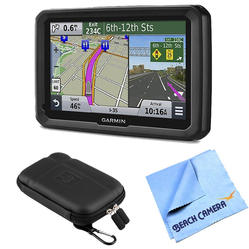 Garmin dezl 570LMT 5'' Truck GPS Navigation Lifetime Map/Traffic Updates Case Bundle