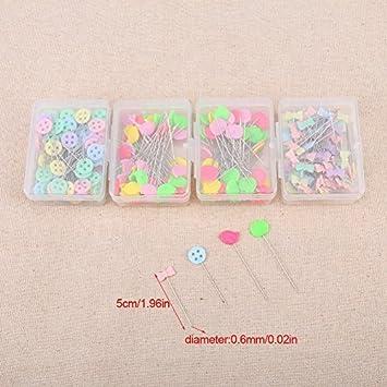 300pcs Round Head Schneiderei Pins Multicolor Glas Kugelkopf Pins DIY Quilting Tool N/ähzubeh/ör f/ür Schneiderei Schmuck Komponenten Blume Dekoration #1