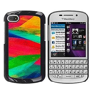 MOBMART Carcasa Funda Case Cover Armor Shell PARA BlackBerry Q10 - Splash Of Vibrant Colors