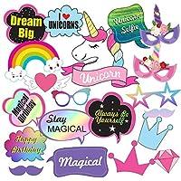 Party Propz™ Unicorn Photobooth Props (Set of 20) / Unicorn Birthday Decoration