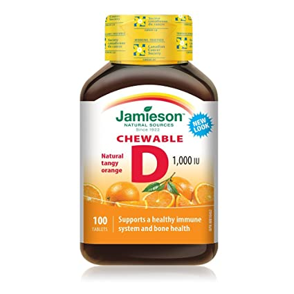 Masticable de vitamina D - Jamieson - suplemento dietético de vitamina D