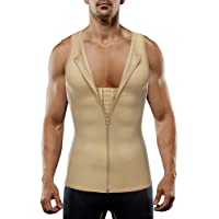 MASS21 Mens Shapewear Slimming Body Shaper Tank Top Tummy Control Girdle Waist Trimmer