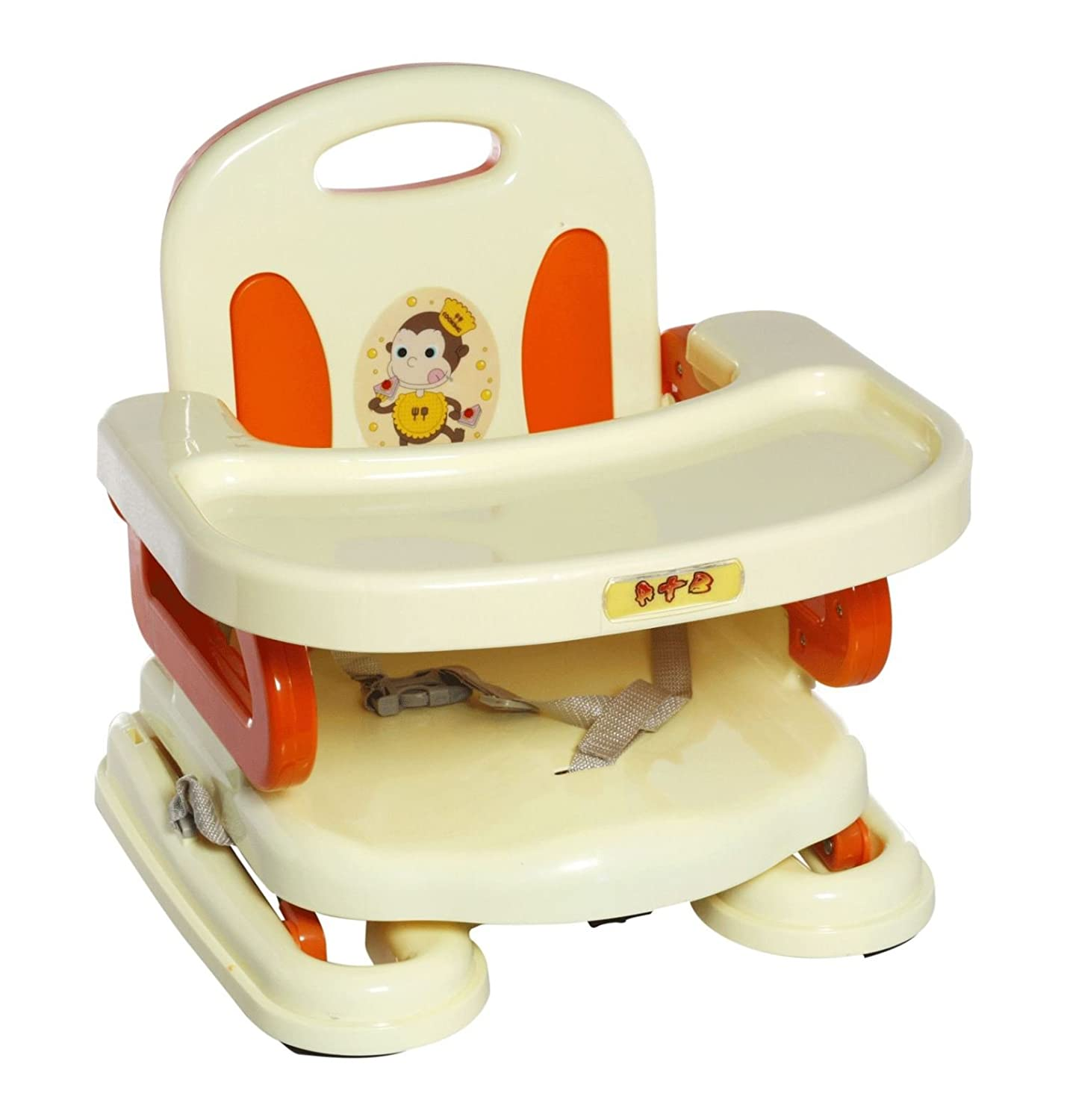 Buy A+B folding Dining chair Booster Seat - Yellow & Orange Online ...