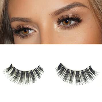 3515f93e244 Amazon.com : Milanté Beauty Allure False Lashes Wispy Vegan Black Natural  Thick Long Full Reusable Fake Strip Eyelashes : Beauty