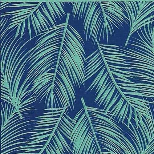 "Falling Leaves Bath Towel (Custom & Luxurious {40"" x 72"" Inch} 1 Single Jumbo & Thick Soft Summer Beach & Bath Towels Made of Quick-Dry Cotton w/ Cool Tropical Falling Palm Tree Leaves Style [Blue & Green])"