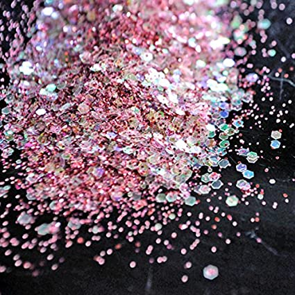cd7a36809a Buy Shopystore 278 Glitter Rose Pink Mix Size Glitter Powder Clear ...