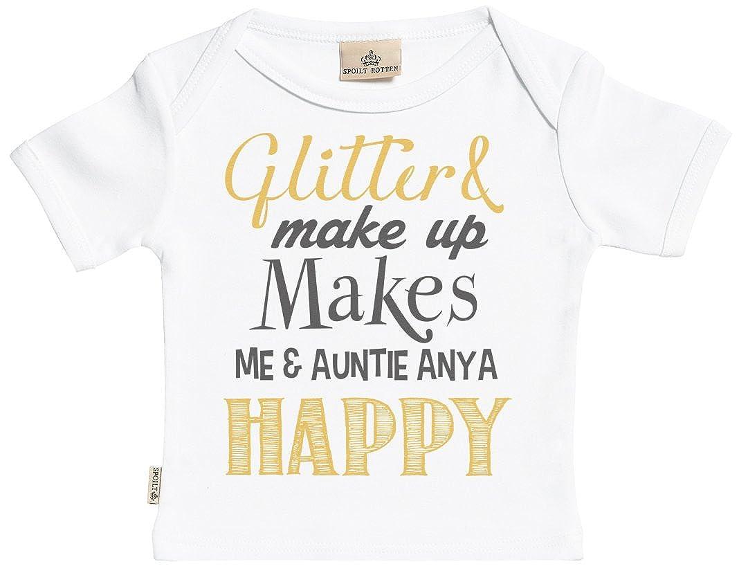 Amazon Sr Personalised Glitter Make Up Custom Baby T Shirt