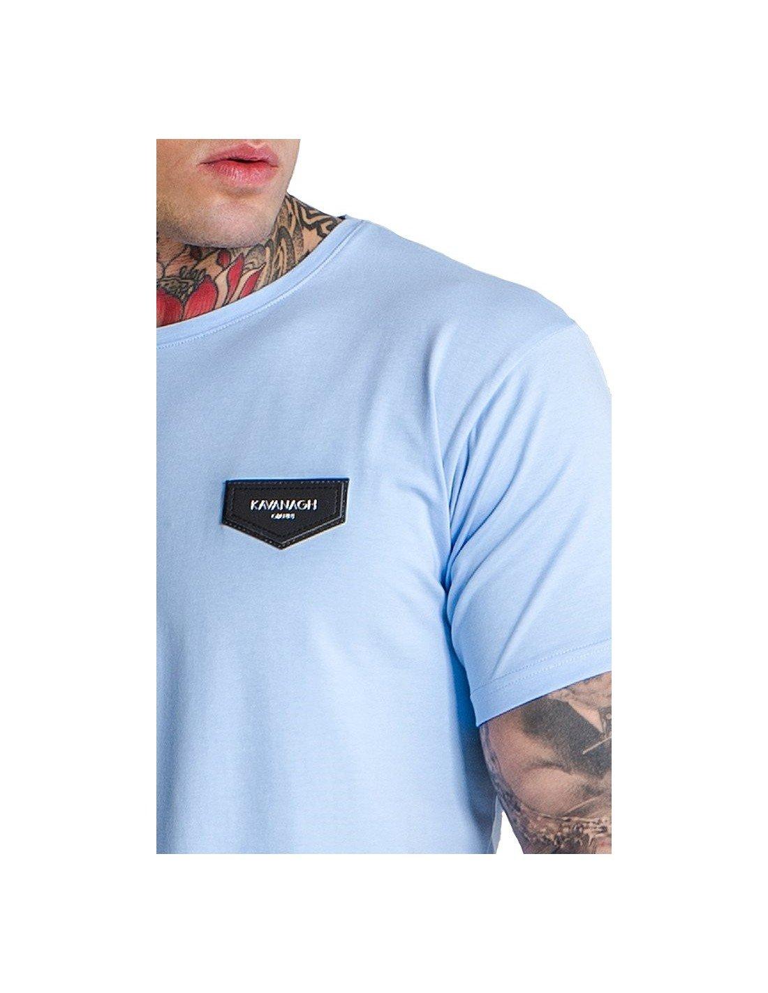Camiseta Manga Corta Gianni Kavanagh Coleccion tee Core Celeste HEQlLFdazP
