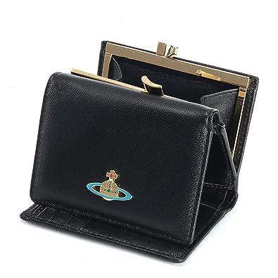 new style 6b9df 953f7 Vivienne Westwood ヴィヴィアンウエストウッド 財布 三つ折り財布 mini wallet レディース 女性 スナップ開閉式 小銭入れ  人気 ブラック13124 [並行輸入品]