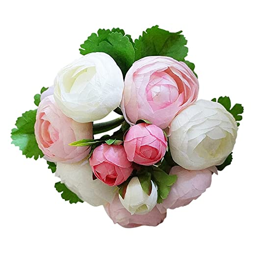 Amazon De Sharplace Kamelien Blumenstrauss Hochzeit Bunte Kunstliche