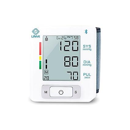 LifeVit BPM-150-Tensiómetro de Muñeca Inteligente- Monitor Digital de Presión Arterial con