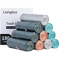 Plastic Bag,180 Counts Upgrade Drawstring Trash Bags,5 Gallon Superior Garbage Bags for Kitchen,Bathroom,12 Rolls