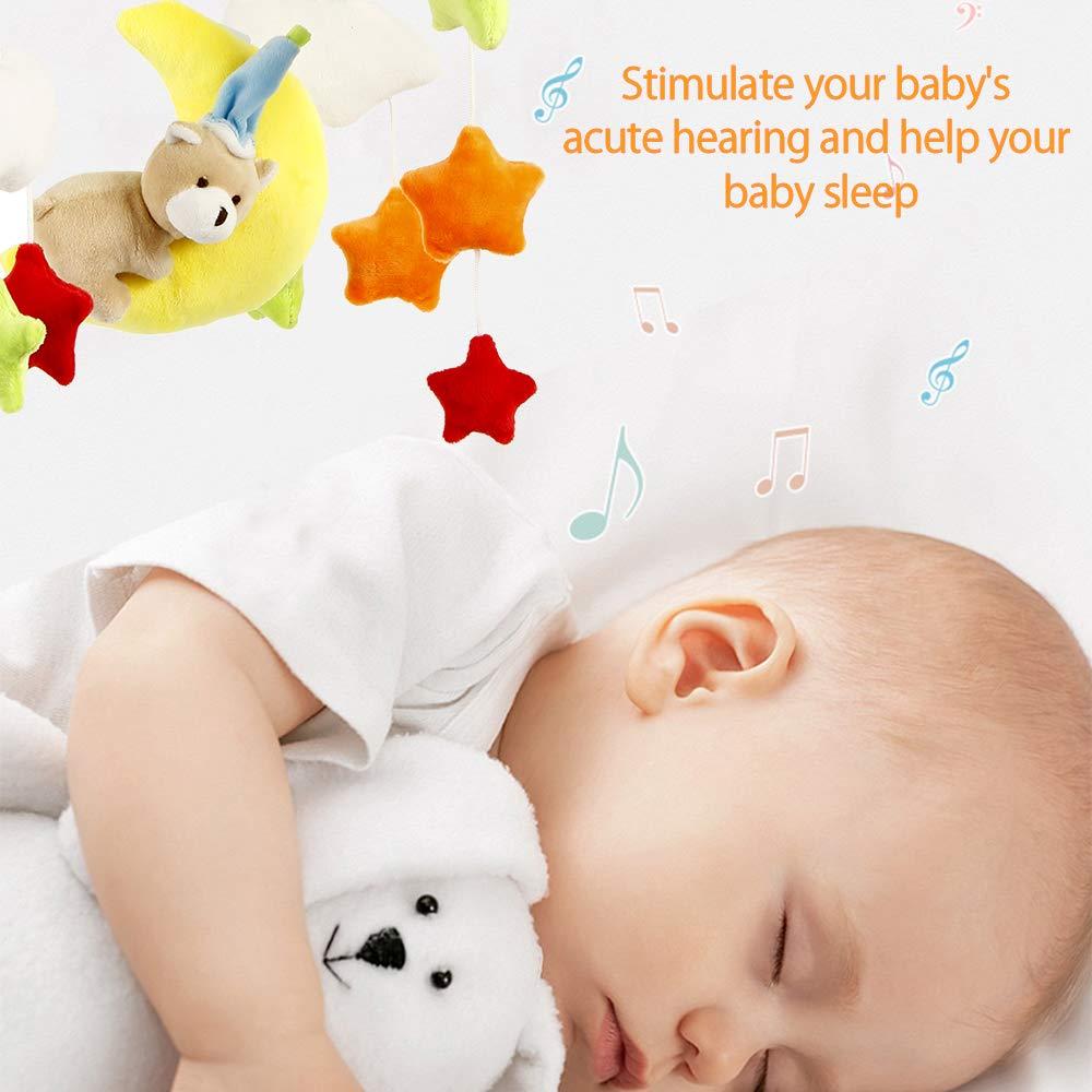 BOTTLEWISE Beb/é Mignon M/úsica de Peluche para Cochecito de beb/é Juguetes de peluche Oso Colgante de en forma de Estrella