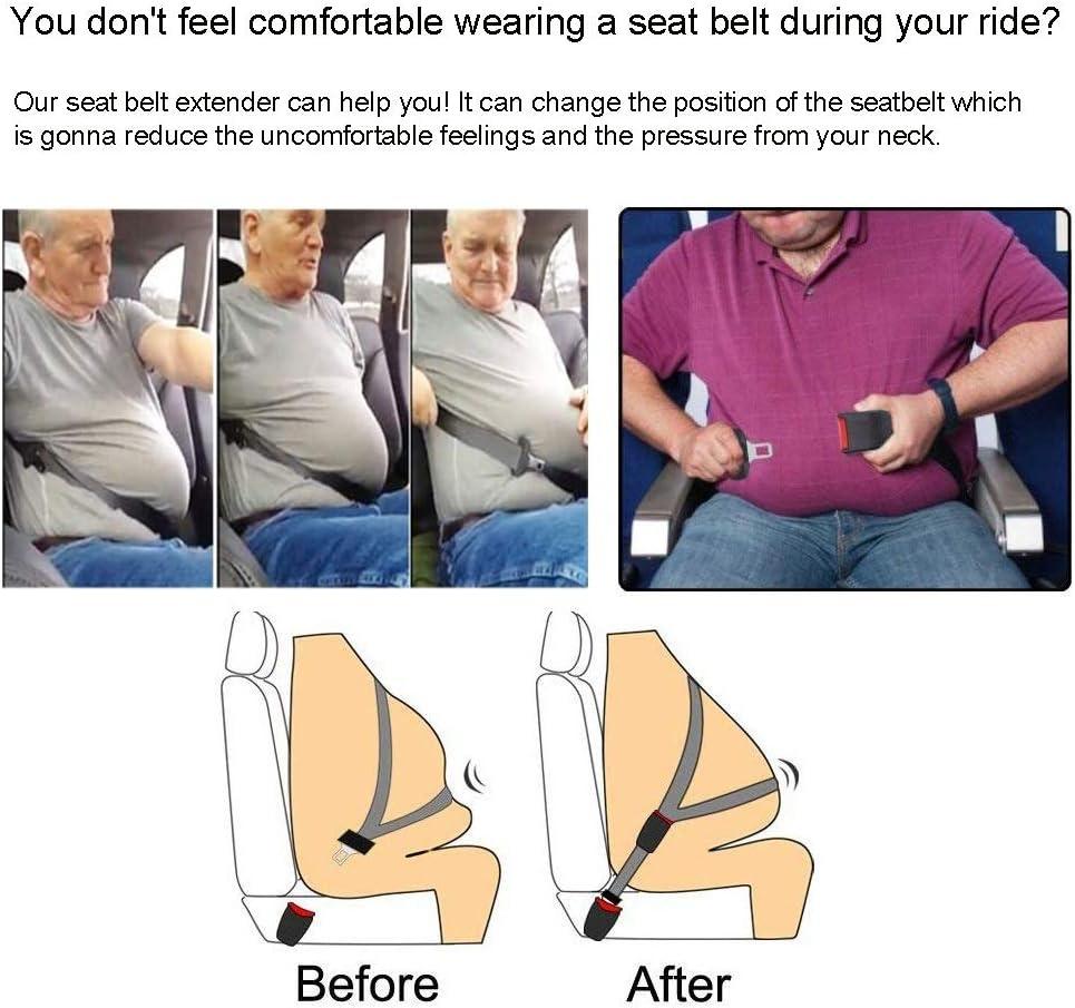 7//8 Metal Tongue 2 Packs Seatbelt Extension E11 Safety Certified - 8 Retractable Seat Belt Extension Seat Belt Extender