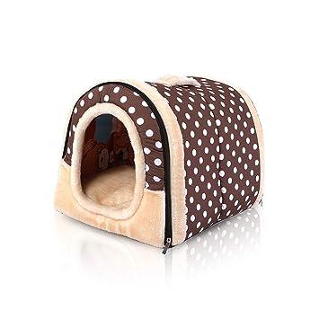 PETCUTE Cama Cueva para Gatos Camas para Gatos Perros Cama Cueva para Gato Muebles para Gatitos Casa para Perros con Cojín removible 45x35x35CM: Amazon.es: ...