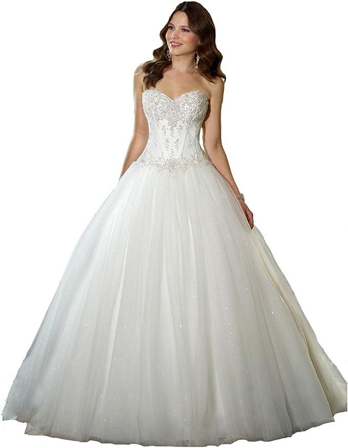 Amazon.com: YIPEISHA Clásico vestido de novia con ...