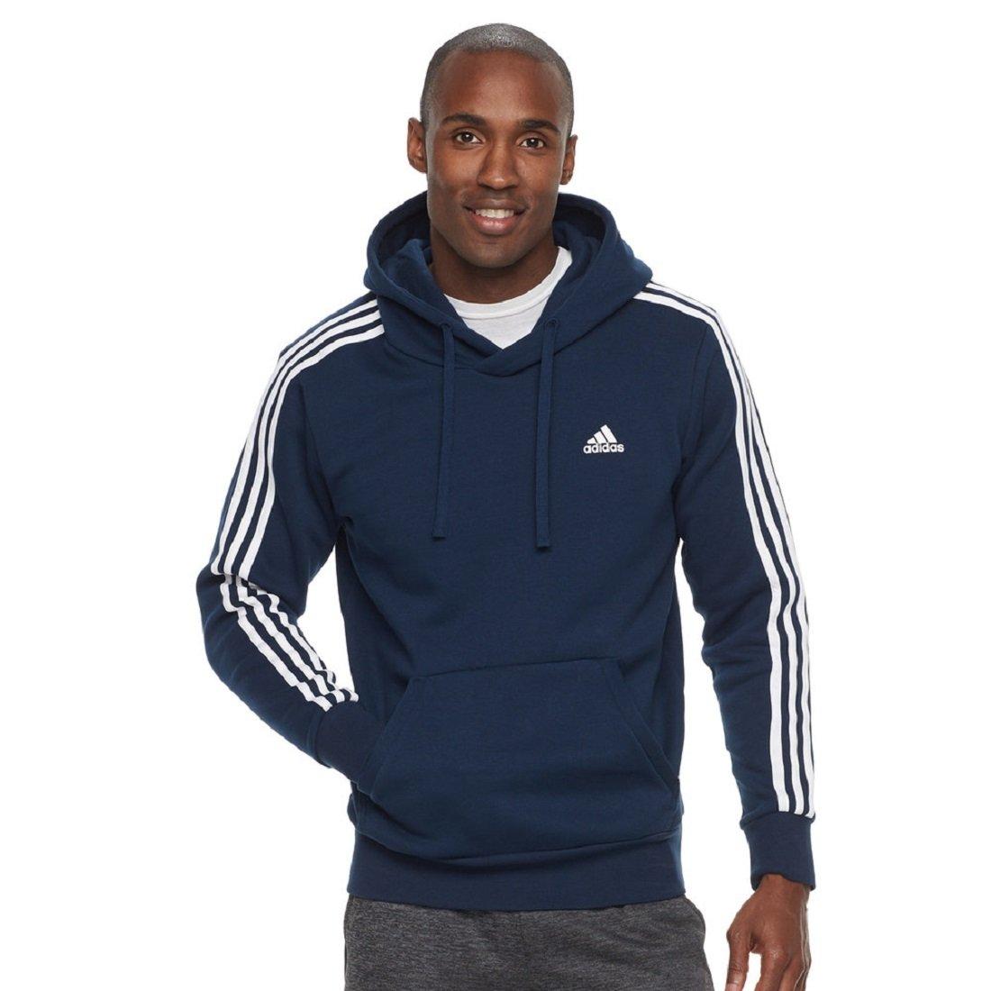 adidas Men's Essentials 3-Stripe Pullover Hoodie F1754MCL310C-P