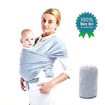 Amazon Com Baby Wrap Carrier Sling Infant Wrap Baby Carrier