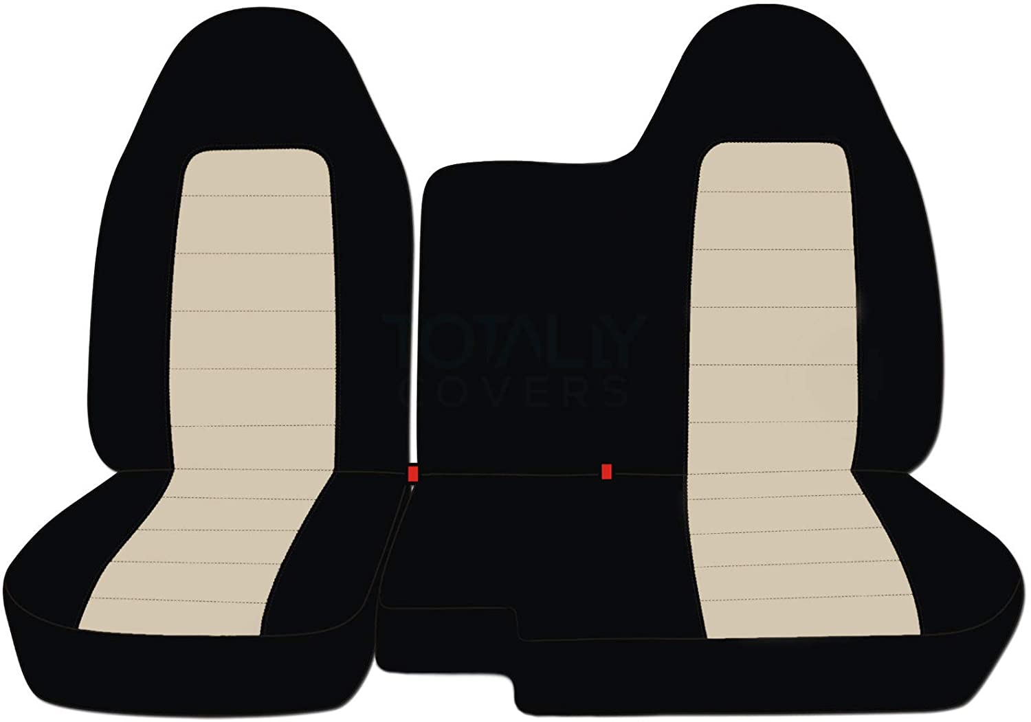 21 Colors No Armrest: Black and Gray Totally Covers Fits 2004-2012 Chevy Colorado//GMC Canyon Two-Tone Truck Seat Covers 2005 2006 2007 2008 2009 2010 2011 Chevrolet Front 60//40 Split Bench