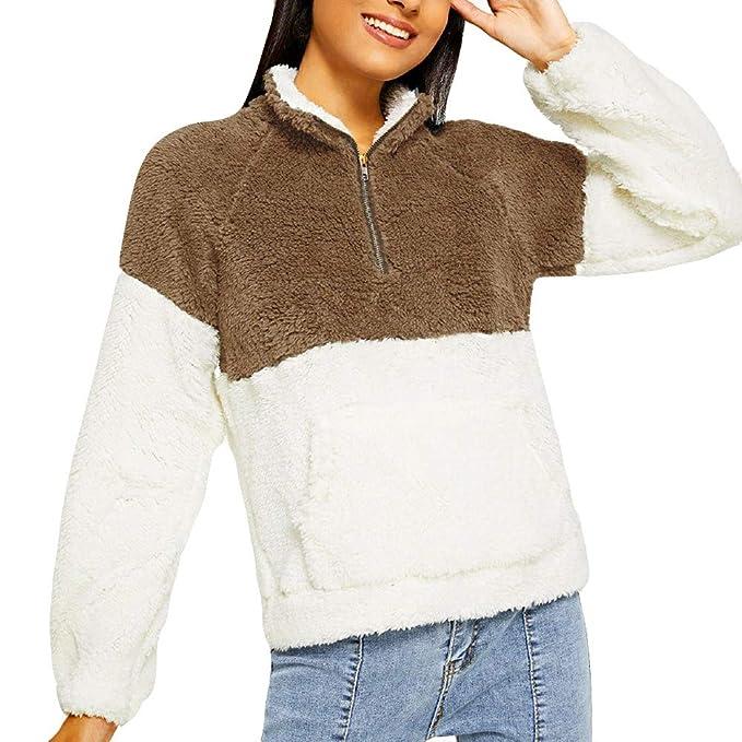 Btruely Herren Chaqueta Suéter para Mujer, Abrigo Jersey Mujer Invierno Talla Grande Hoodie Sudadera con