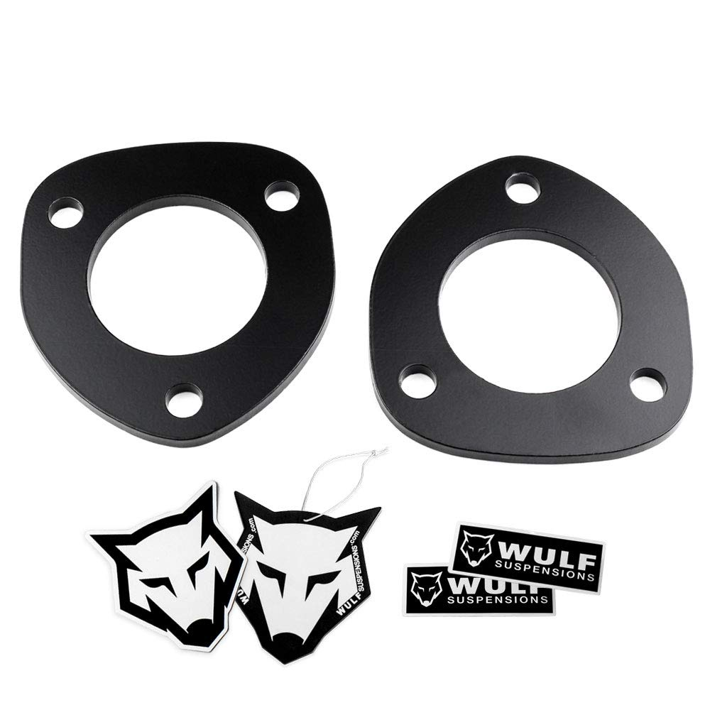 """WULF Front 0.5"""" Leveling Lift Kit 1/2"""" Strut Spacer compatible with 2006-2018 Dodge Ram 1500 4X4"""