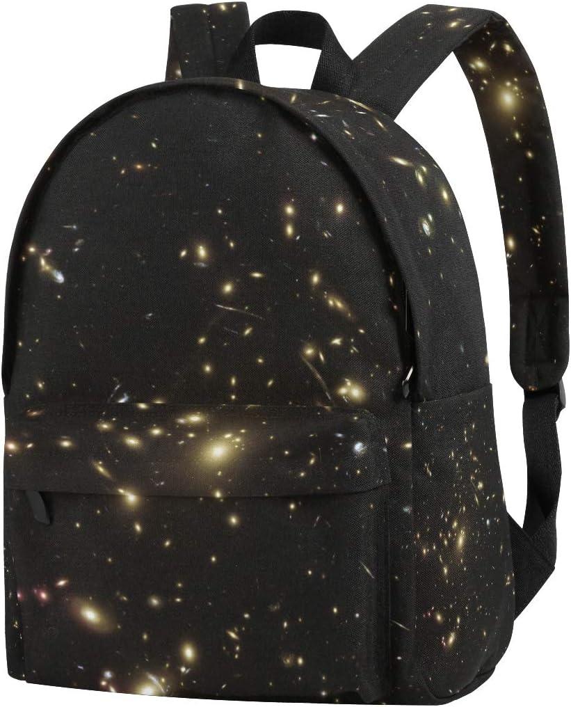 DEZIRO Hubble Sees Galaxy Cluster School Bag for Men Travel Bag