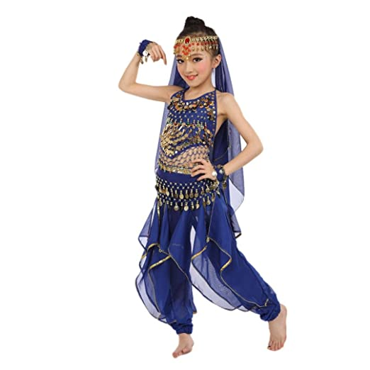 amazon com misaky girls oriental belly dance costumes child egypt