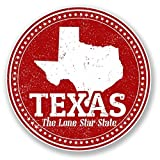 2 x Texas USA Vinyl Stickers Decals Car Laptop Bag Labels Luggage Tag Christmas Gift Tag Stickers Novelty (10cm x 10cm)