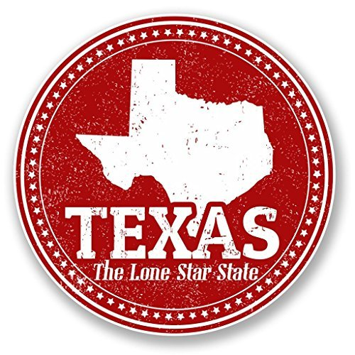 2 x Texas USA Vinyl Stickers Decals Car Laptop Bag Labels Luggage Tag Christmas Gift Tag Stickers Novelty (10cm x 10cm) by hiusan