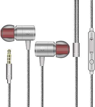 Auriculares in-Ear con micrófono, Auriculares con Cable ...