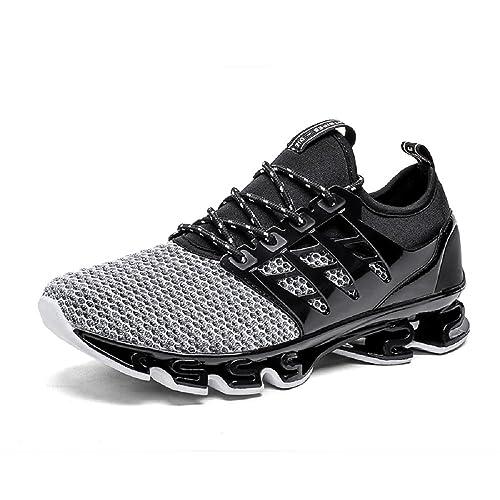 NEOKER Scarpe da Uomo Sneakers Sportive Running Basse Traspirante Nero 39-44   Amazon.it  Scarpe e borse f3d23497770