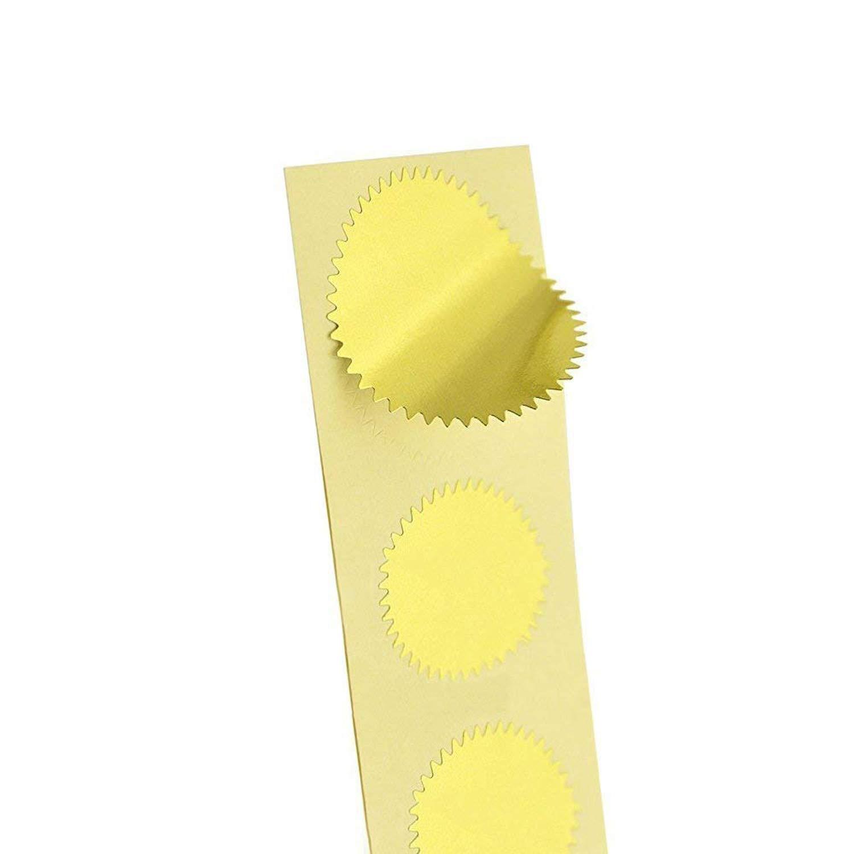 200pcs Embossed Foil Blank Certificate Self-Adhesive Sealing