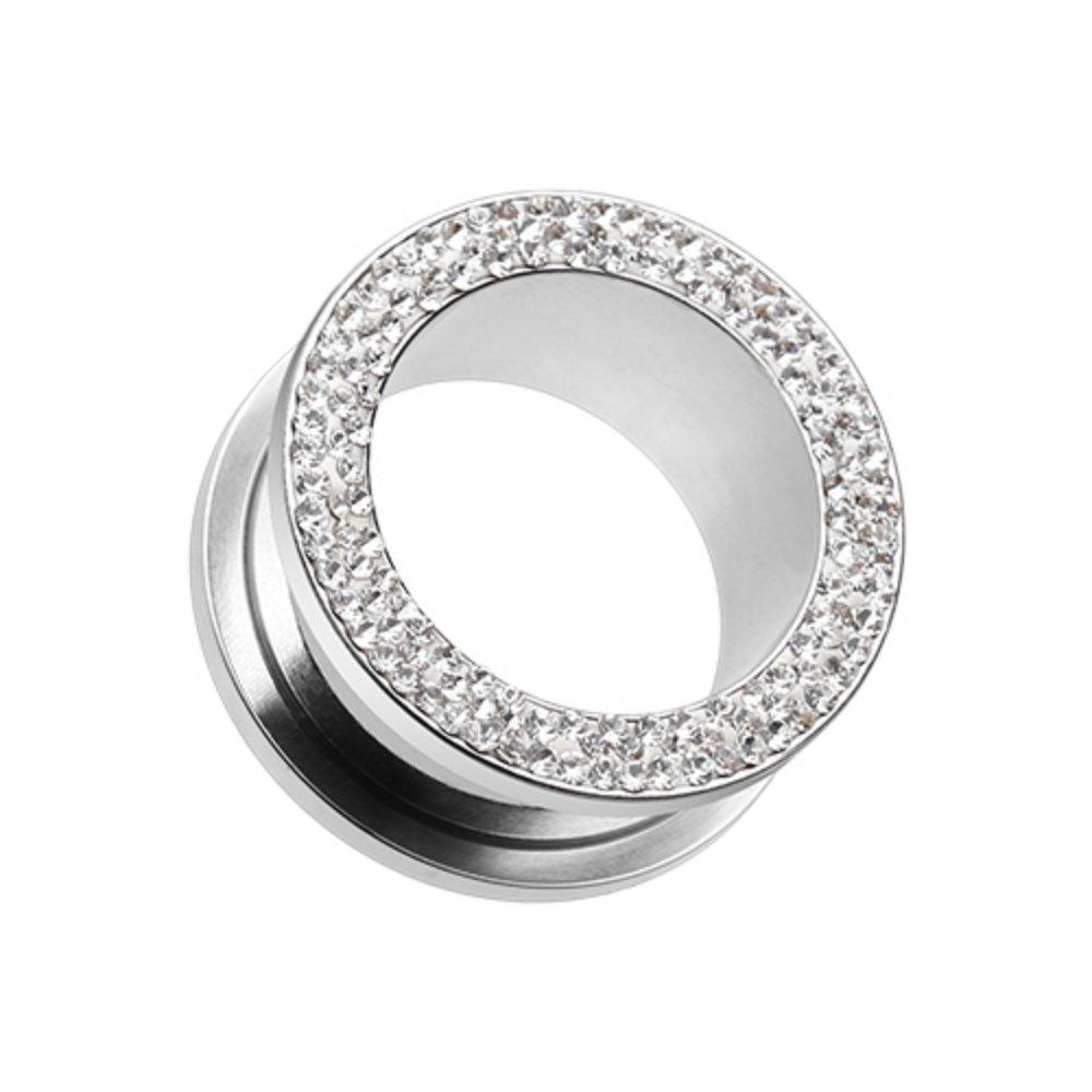 Multi-Sprinkle Dot Multi Gem Screw-Fit Ear Gauge WildKlass Tunnel Plug (Sold as Pairs) by WildKlass Jewelry