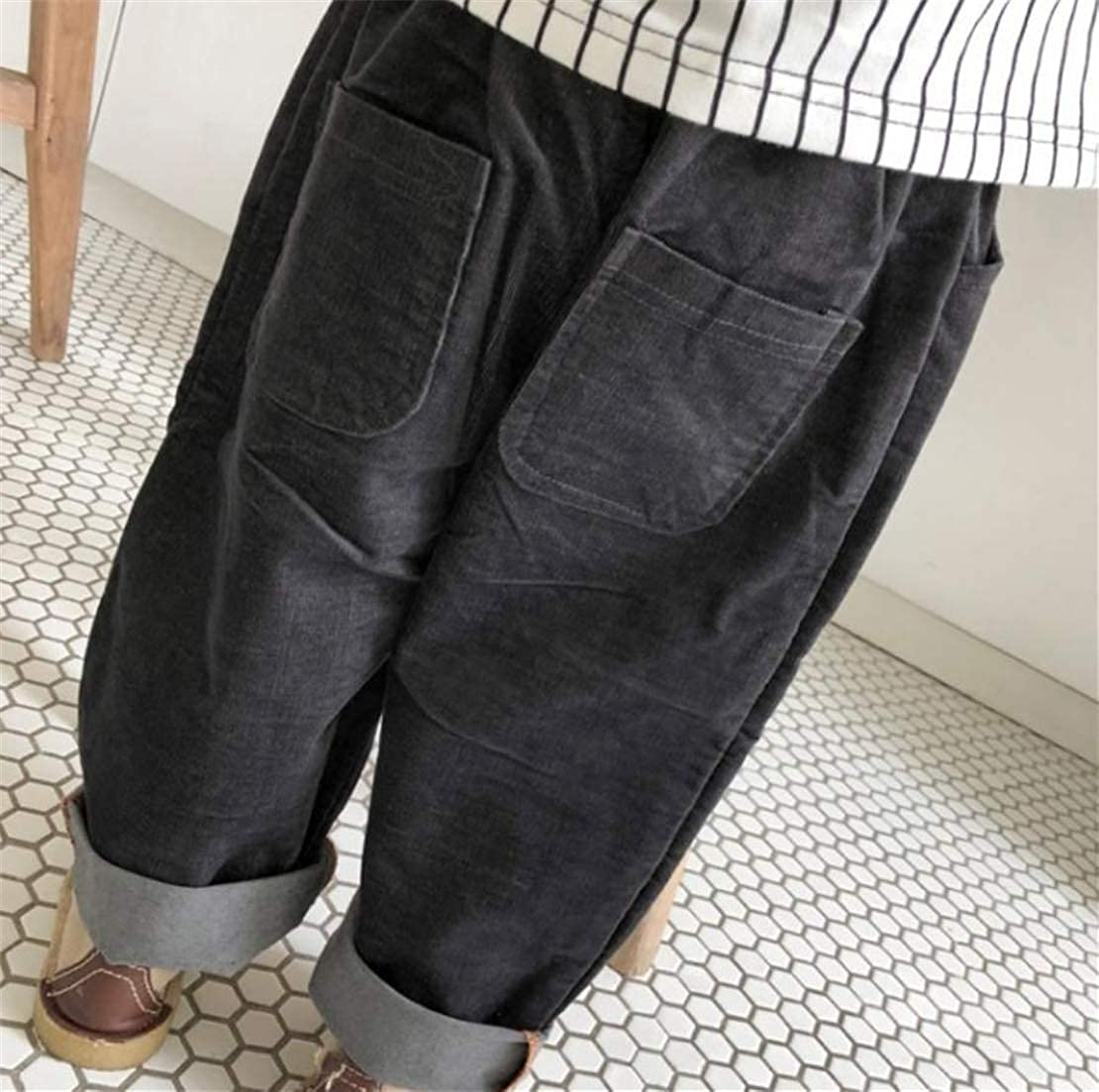 Sweatwater Boys Autumn Winter Elastic Waist Trousers Casual Corduroy Pants