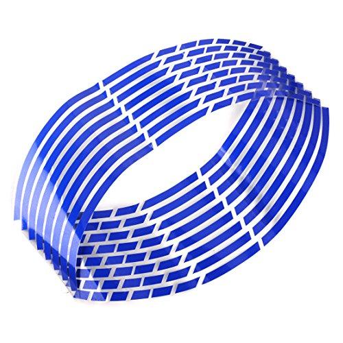 Blue Motorcycle Wheels - 4