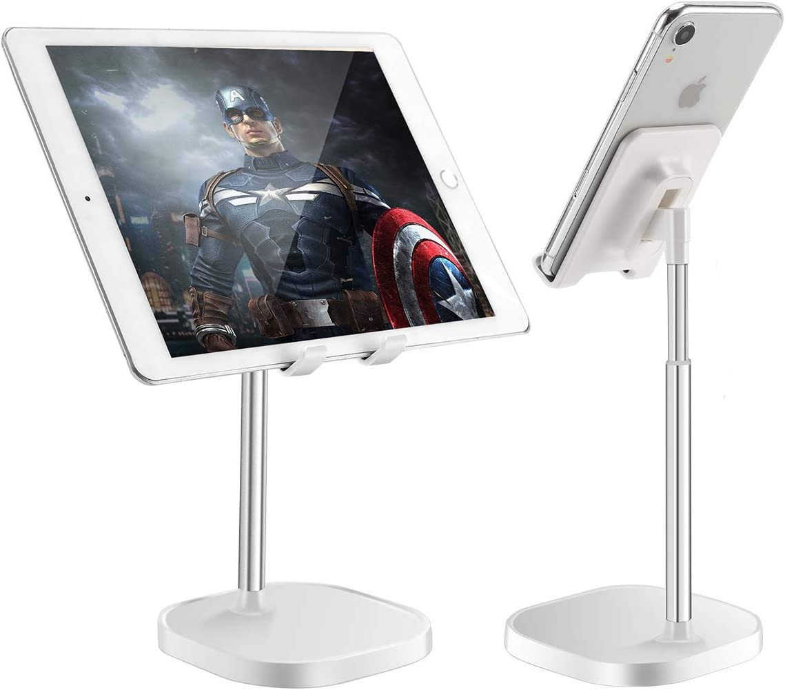 Cell Phone Stand for Desk, Angle Height Adjustable Cell Phone Holder on Home and Office, Mobile Phone Stand Cradle Compatible with iPhone 12 pro mini/11 8 7 X XR XS/Samsung Galaxy/Tablet/Switch