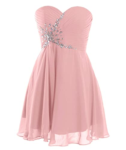 Fashion Plaza Short Strapless Sweetheart Prom Dress Crystal D0371