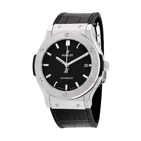 Hublot clásico fusión Negro Dial Negro Cuero Reloj 511 nx1171lr: Amazon.es: Relojes