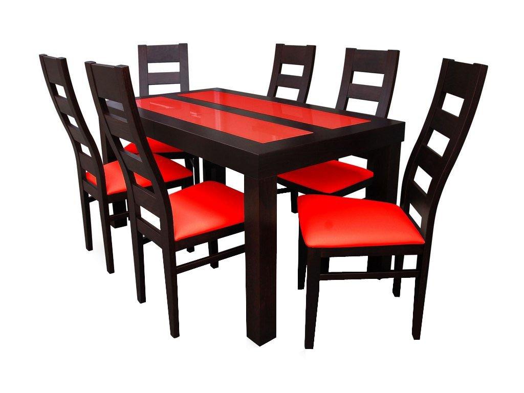 Essgruppe Tisch S25A + 6xK47 Stühle Esstischset Glastisch