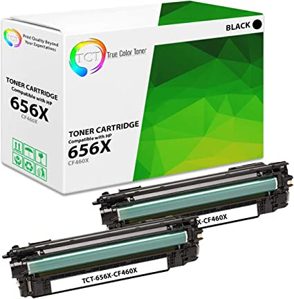 TCT Premium Compatible Toner Cartridge Replacement for HP 656X CF460X Black High Yield Works with HP Color Laserjet Enterprise M652 M653 Printers 27,000 Pages
